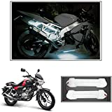 #8: Vheelocityin 10cm Neon Bike Light White - 2pc For Bajaj V15