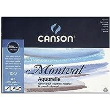 Canson Montval - Bloc papel de acuarela, A3 - 29.7 x 42 cm, color blanco natural