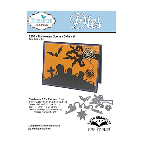 Elizabeth Craft Designs Halloween Szene sterben, Metall, grau, 21,3x 13,7x 0,2cm (Halloween Designs Yard-art)