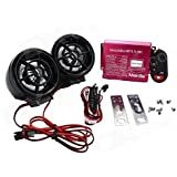 EASY4BUY® Motorcycle Led Audio Radio Bike Sound System Sd USB Mp3 12V Anti-Theft Alarm System Fm Handlebar Stereo Speaker Multifunction
