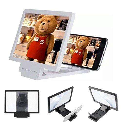 Tech4u Sucher flach 3d. Für Handys Display-Erweiterung. Universal. Kompatibel mit allen Geräten. Faltbar. Leicht. Notebook. Ideal zum Lesen und Filme.