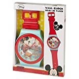 Disney Mickey Mouse Rot & Türkis Riesen-Armbanduhr-Wanduhr 92cm