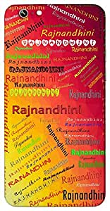 Rajnandhini (Popular Girl Name) Name & Sign Printed All over customize & Personalized!! Protective back cover for your Smart Phone : HTC one M-7 ( M7 )