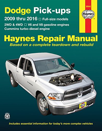 haynes-dodge-pick-ups-2009-thru-2016-repair-manual-2wd-4wd-v6-and-v8-gasoline-engines-cummins-turbo-