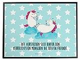 Mr. & Mrs. Panda Schreibtischunterlage Einhörner Sekt - 100% handmade in Norddeutschland - Unterlage, Einhörner, Party, Spaß, Anstoßen, Mädelsabend, Schreibtisch, Sekt, Schreibtischunterlage, Korken, Freundinnen, Freundin
