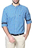Allen Solly Men's Casual Shirt (8907467017744_AMSF316G02981_44_Medium Blue with Blue)