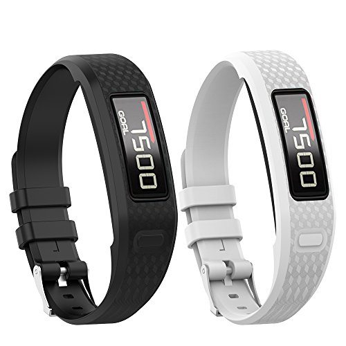 Garmin vivofit 1/vivofit 2 Armband,Gosuper Soft-Silikon Watch Armband Atmungsaktiv Ersatz Strap für Garmin vivofit 1/vivofit 2(2-Pick)