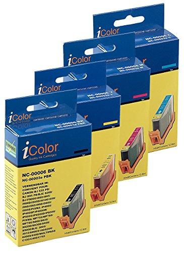 iColor Odixion Octavo: Color-Pack für Canon (ersetzt BCI-6BK/C/M/Y) (Odixion UNO)