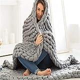 BABIFIS Baby-Decke, dick, handgewebte Decke, für Erwachsene, Kinder, Wollteppich, sehr weich, bequem und atmungsaktiv