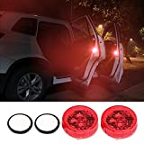 #9: Car Door Open Automatic RED Strobe Warning Light for Anti Collision - Easy Fixing - No batteries required - Self Powered Wireless Controler Kit - 1 PAIR