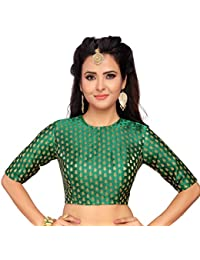 125aff992840f Amazon.in  Greens - Blouses   Ethnic Wear  Clothing   Accessories