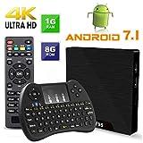 TV Box Android 7.1 - VIDEN W1 Smart TV Box Dernière Amlogic S905W Quad-Core, 1Go RAM & 8Go ROM, 4K UHD H.265, USB, HDMI, WiFi Lecteur Multimédia + Air Souris & Mini Clavier Combo