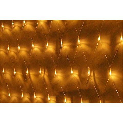 All'aperto impermeabile 2 M x 3 M 320 rete a maglia decorativo fata luci a LED per casa coperta e all'aperto giardino Natale festa di nozze bianco caldo - Camera Pull String