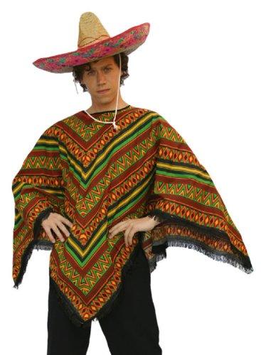Preisvergleich Produktbild Mexikaner Kostüm - Poncho - Mexiko - Universalgrösse