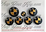 Schwarz Gold Glänzend Abzeichen Emblem Vinyl Überzug Aufkleber Bezüge für BMW Haube Koffer Felgen Räder für Alle Serie 1,2,3,4,5,6,7,X1,X2,X3,X4,X5,X6,Z1,Z3,Z4,Z8,M Sport,X-Drive Produkt