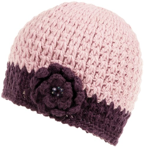 Nirvanna Designs CH75 Häkel-Blume Beanie, Damen, CH75, violett, Medium - Large
