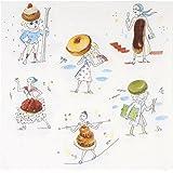 Serviettes en papier Les gourmandes Paquet de 20 Blanc et motifs pâtisseries La chaise longue 32-K2-063G