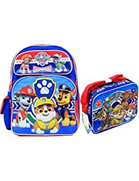 "Nickelodeon Paw Patrol Kids 16"" Large School Backpack & Lunch Box Licensed New USA Seller"