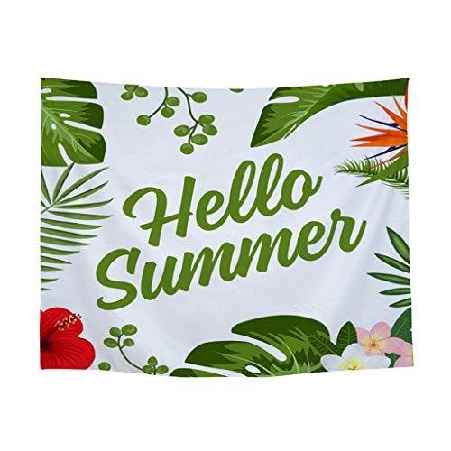 üne Pflanze Druck Plane Polyester Gobelin Teppich Tuch 130X150cm/200x150cm Tagesdecke Hochzeitsfeier Picnic Beach Sheet(H-200x150cm) ()