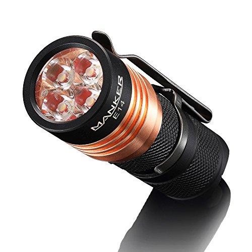 Manker E14 4 LED Taschenlampe