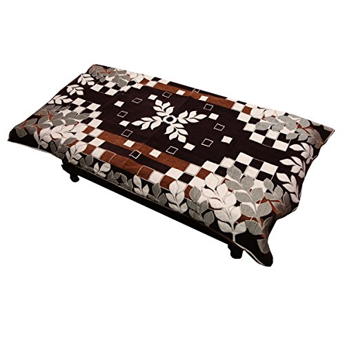 Kuber Industries™ Center Table Cover Maroon Cotton Fabric in Floral Design 40*60...