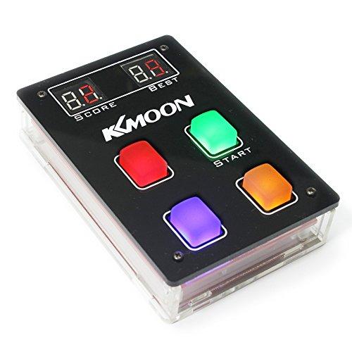KKmoon Game Console Spielkonsole Spiel DIY Teile Kit mit Acryl Gehäuse, 4 Arten LED Licht Handkonsolen Kindheit Klassische Spielmaschine Spielzeug für Elektronische Enthusiasten Spieler