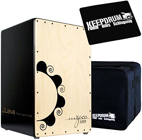 J.Leiva Percussion Zoco 2.0 Cajon + KEEEPDRUM Tasche + Sitz-Pad -