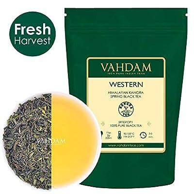 VAHDAM, feuilles de thé noir Darjeeling de l'Himalaya - 120 tasses ou plus, 100% certifié pur thé non mélangé Darjeeling, thé de feuilles en vrac de qualité FTGFOP1, emballé et expédié directement de Source, Inde, 255gr