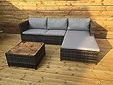 Kingfisher RSET1 KD Rattan Sofa Set - Grey (3-Piece)