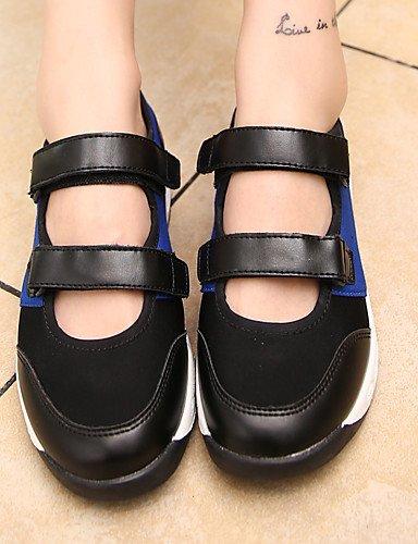 ZQ Scarpe Donna-Ballerine-Tempo libero / Casual / Sportivo-Comoda / Punta arrotondata-Piatto-Tessuto-Blu / Nero e bianco , blue-us8 / eu39 / uk6 / cn39 , blue-us8 / eu39 / uk6 / cn39 blue-us8 / eu39 / uk6 / cn39