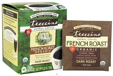 Teeccino French Roast Herbal Coffee Tee-Bags - 6 x 10 Tea Bags
