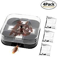 Trampa de cucarachas reutilizable KOBWA, asesinos de cucarachas interiores, Colector de insectos de plagas