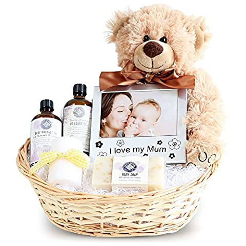 Pamper New Mum & Baby Gift Basket, Newborn Baby Hamper, Baby Shower Ideas, Christening Gifts, Maternity