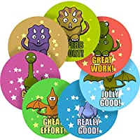 Graphic Flavour Dinosaur Reward Sticker Labels, Children, Parents, Teachers