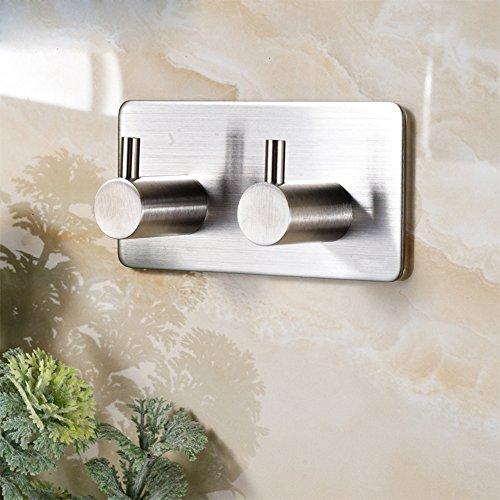 ZUNTO Handtuchhaken Haken Selbstklebend Bad und Küche Handtuchhalter Kleiderhaken Ohne Bohren 2-haken