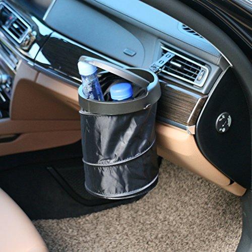 gogolo plegable colgar bolsa de basura de diverso para coche y camión asiento trasero, hebilla Up automático residuos soporte y organizador con abierto parte inferior para casa, oficina asiento