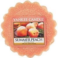 Yankee Candle Summer Peach Tart da Fondere, Cera, Arancione, 5.7 x 5.7 x 1.7 cm