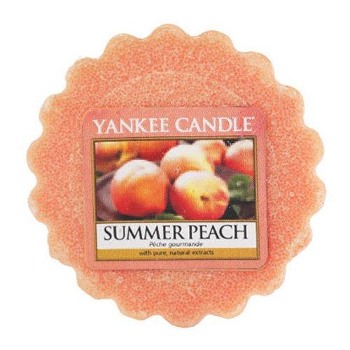 YANKEE CANDLE Tartelette de Cire - Orange - Parfum Summer Peach