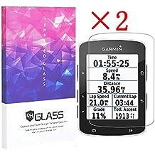 elecguru Garmin Edge 520Protector de pantalla Crystal Clear 9H 2.5d templado vidrio Protector de pantalla Foils, antihuellas, antirreflectante, sin burbujas Protector