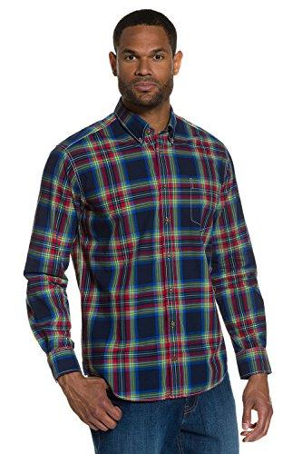 JP 1880 Homme Grandes tailles Chemise à carreaux 705578 Bleu Marine