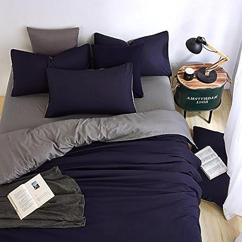 Xingyu-xy Parure de lit simple et élégante de dessus de lit (couette, draps, taies d'oreiller) Texture délicate, doux, ne peut pas SE permettre le ballon NE SE décolorent pas votre chambre à coucher Entièrement rénovée Look avec, Khaki ash, Quilt cover 150 * 200cm / 59 * 78.7 in