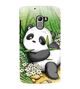 Fuson Designer Back Case Cover for Lenovo Vibe K4 Note :: Lenovo K4 Note A7010a48 :: Lenovo Vibe K4 Note A7010 (panda cute panda siiting panda eating panda relax )