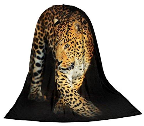 Microfaser Kuscheldecke Tagesdecke Wohndecke Decke Tiermotiv Motivdrucke Fotodruck 1,5m x 2m (Leopard)