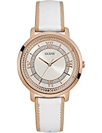 GUESS Women's Montauk 40mm Leather Band Steel Case Quartz Analog Watch W0934L1