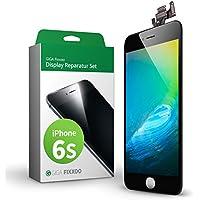 GIGA Fixxoo iPhone 6s Komplettes Display Ersatz Set Schwarz, LCD mit TouchScreen, Retina Display, Kamera & Näherungssensor - Einfache Installation für Do-It-Yourself