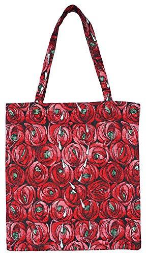 Signare Einkaufstasche, wiederverwendbar, umweltfreundlich, Mackintosh-Design Medium Rose Teardrop -