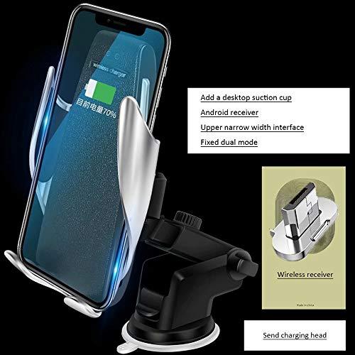 DFGB-CZSJZ Clip mágico soporte para teléfono para coche cargador inalámbrico para coche cargador de coche de navegación por inducción automático inteligente - Telefono Cargador Inalambrico De