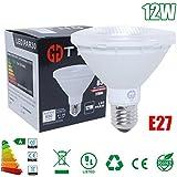 THG PAR30 E27 LED COB C¨¢lido Spotlight Blanca NO regulable Corto Cuello 950LM 12W AC100-240V (paquete de 1)