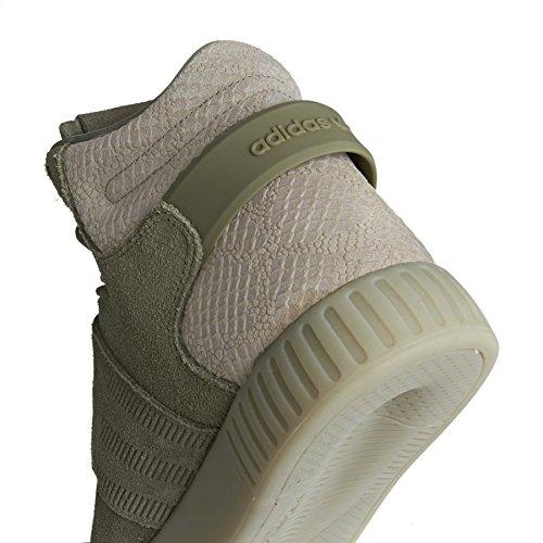 adidas Tubular Invader Strap, baskets montantes mixte adulte White/white