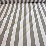 Stoff Baumwollstoff Meterware Blockstreifen grau weiß